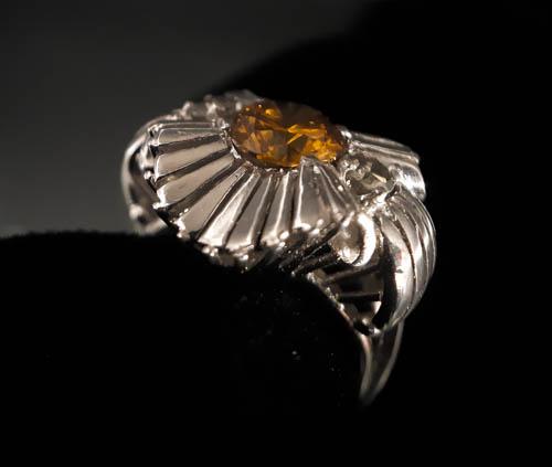 19 Bague diamant orange