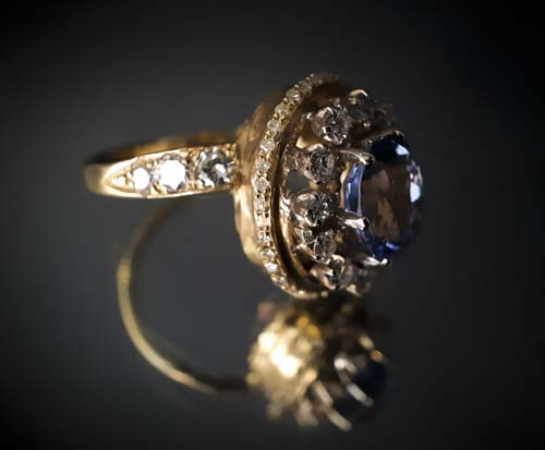 25 Bague Saphir taille ovale