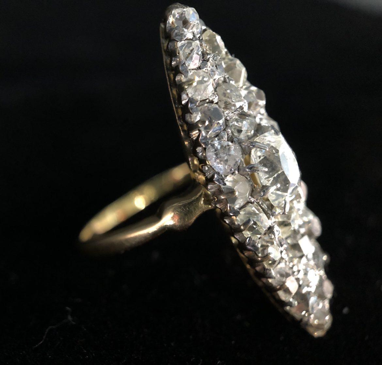 40 Bague diamants taille ancienne