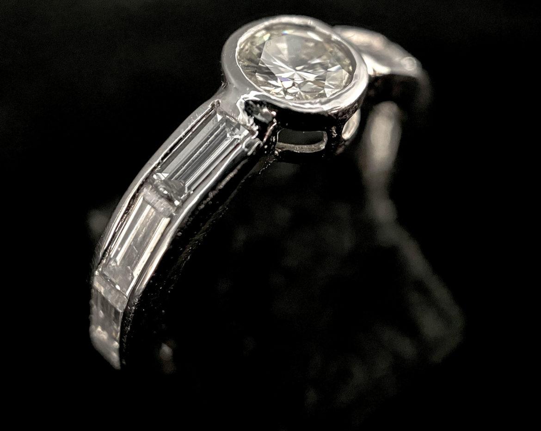 55 Bague diamant taille brillant