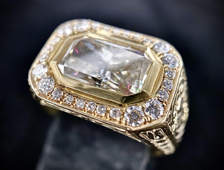 82 Bague diamant radiant